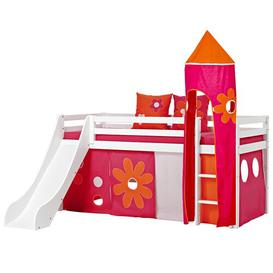 image-Basic Mid Sleeper Bed with Textile Set Hoppekids Size: European Single (90 x 200cm)