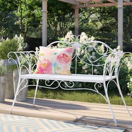 image-Klatt Iron Bench Sol 72 Outdoor Colour: White