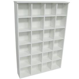 image-480 CD or 312 DVD Blu-Ray Multimedia Storage Rack Mercury Row Colour: White