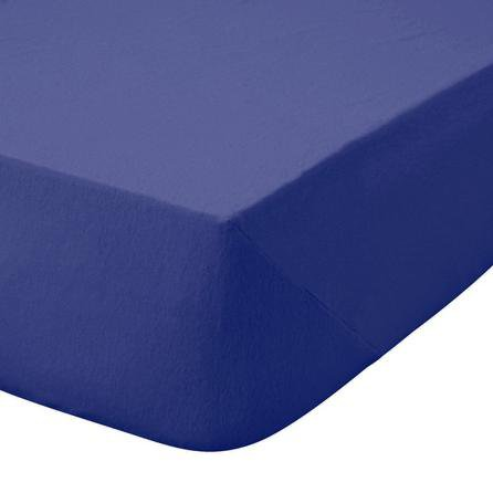 image-Kids Non Iron Plain Dye Navy 25cm Fitted Sheet Navy