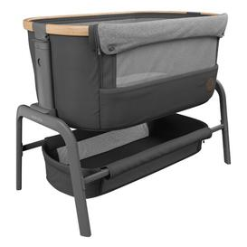 image-Iora 2-in-1 Rocking Bedside Crib with Mattress Maxi-Cosi Home Equipment Colour: Black