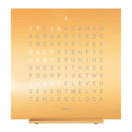 image-QLOCKTWO - Touch Alarm Clock - Golden Legend