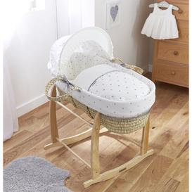 image-Lullaby Hearts Moses Basket Clair De Lune