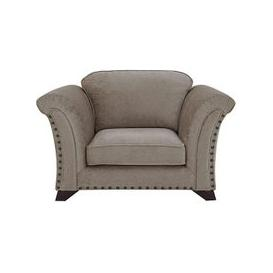image-Holly Fabric Love Seat with Studs - Mink