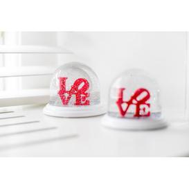 image-Love Snow Globe Koziol Size: 7.6cm H x 9cm W x 9cm D
