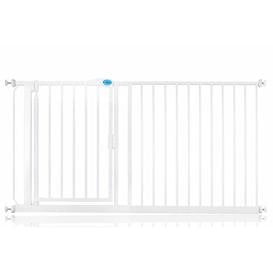 image-Arias Pressure Mounted Pet Gate Archie & Oscar Size: 75cm - 82cm, Finish: White