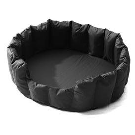 image-Chesterfield Bolster Cushion Archie & Oscar Size: 24cm H x 64cm W x 76cm D, Colour: Black