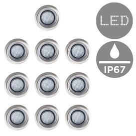 image-10 Piece LED Deck, Step and Rail Lights Set Symple Stuff Light Colour: White