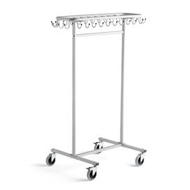 image-Mobile coat rack for children ORKAN, grey