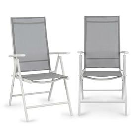 image-Almeria Adjustable Garden Chairs Blumfeldt Colour: White/Light grey