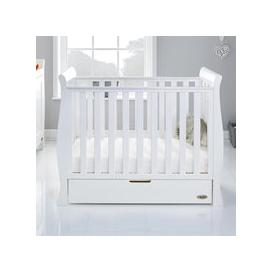 image-Obaby Stamford Space Saver Cot in White