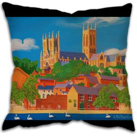 image-Finnley Cushion with filling Happy Larry Size: 58 cm L x 58 cm W
