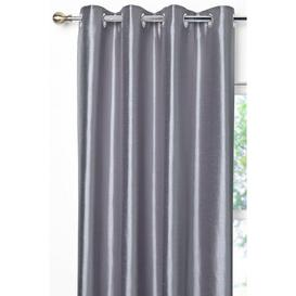 image-Faux Silk Eyelet Lined Curtains