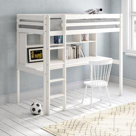 image-Cutler European Single High Sleeper Loft Bed with Shelf Isabelle & Max