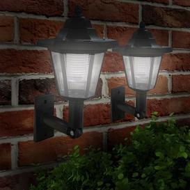 image-Hagerman Victorian LED Solar Outdoor Wall Lantern