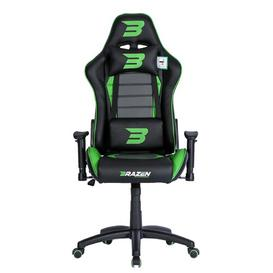 image-Sentinel Elite Ergonomic Upholstered Gaming Chair BraZen Gaming Chairs Upholstery Colour: Green
