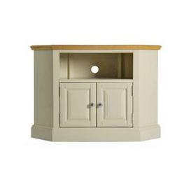 image-Country Cottage Oak 2 Door Corner TV Unit