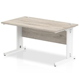 image-Guenievre Executive Desk Ebern Designs Size: 73cm H x 120cm W x 80cm D, Frame Colour: White