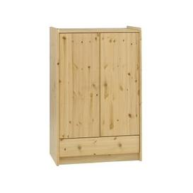 image-Pathos Wooden Childrens Wardrobe Low In Pine