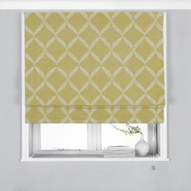 image-Jerry Room Darkening Roman Blind Marlow Home Co. Size: 137cm L x 61 cm W, Finish: Yellow