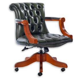image-Carline Leather Executive Chair Rosalind Wheeler Colour (Upholstery): Birch Blush Beige