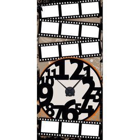 image-Analogue Wall Sticker Clock East Urban Home Paint: Black