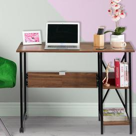 image-Schock Writing Desk Symple Stuff Tabletop/Frame colour: Brown/Black