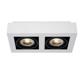 image-Zefix 2-Light 34cm Ceiling Spotlight Lucide Finish: White