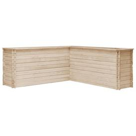 image-Havelock Wood Planter Box August Grove Size: 80cm H x 197cm W x 197cm D
