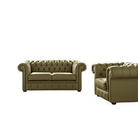 image-Belford 2 Piece Leather Sofa Set Astoria Grand Upholstery Colour: Sage