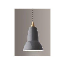 image-Anglepoise Original 1227 Brass Ceiling Light, Elephant Grey
