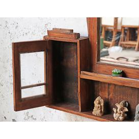 image-Rustic Bathroom Mirror Cabinet Brown