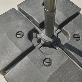 image-Four Part Water Fill Parasol Base Grey