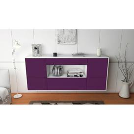 image-Stalham Sideboard Brayden Studio Colour (Body/Front): White mat/Purple