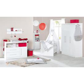 image-Maren Cot Bed 3-Piece Nursery Furniture Set roba Size (Changing Unit): Wide (H 98cm x W 117cm x D 75cm), Colour: White