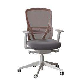 image-Dalton Ergonomic Mesh Task Chair Senator Frame Colour: Light Grey, Back Colour: Aqua, Upholstery Colour: Momentum Origin Iron