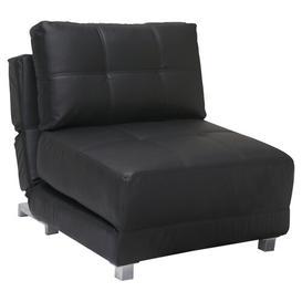 image-Rita Futon Chair Leader Lifestyle Colour: Luxurious Black Faux Leather