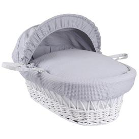 image-Waffle Moses Basket Clair De Lune Colour: Grey White