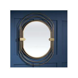 image-Salford Contemporary Wall Mirror Oval In Gold