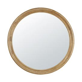 image-Round Rubber Wood Mirror with Mouldings D90