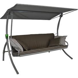 image-Ethelyn Swing Seat with stand Sol 72 Outdoor Fabric colour: Taupe