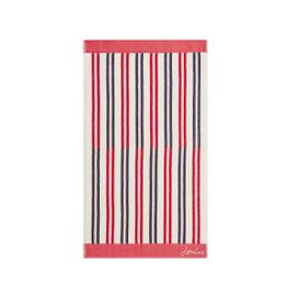 image-Joules Dawn Shadow Stripe Hand Towel, Raspberry