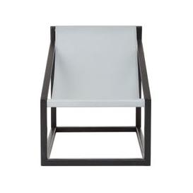 image-Formosa Teak Wood Cubic Frame Chair in Grey