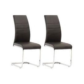 image-Soho Black Faux Leather Dining Chair In A Pair