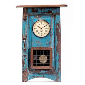 image-Upcycled Collection Window Clock with Pendulum
