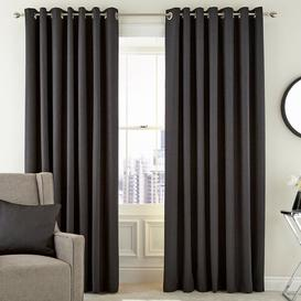 image-Barcelo Lined Eyelet Room Darkening Curtains Peacock Blue Hotel Colour: Graphite, Size per Panel: 229 W x 137 D cm