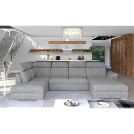 image-Valentino Corner Sofa Bed Ebern Designs Upholstery Colour: Pale, Orientation: Right Hand Facing