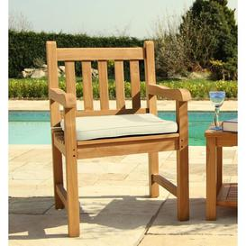 image-Bar Stool Cushion Sol 72 Outdoor Colour (Cushion): Off White, Size: H5 x W52 x D52cm