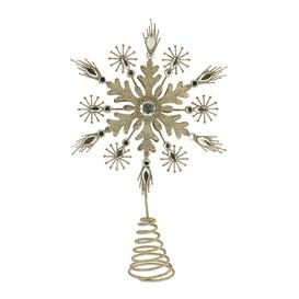 image-A by AMARA Christmas - Metal Snowflake Tree Topper - Champagne Gold