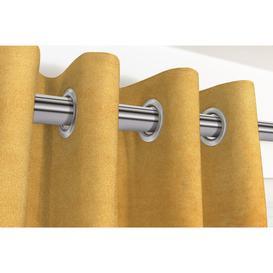 """image-Matt Ochre Yellow Velvet Curtains, 167cm(w) x 137cm(d) (66"""" x 54"""")"""